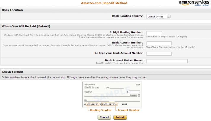 Añadir payoneer en Amazon