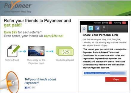 Programa de Referidos Payoneer