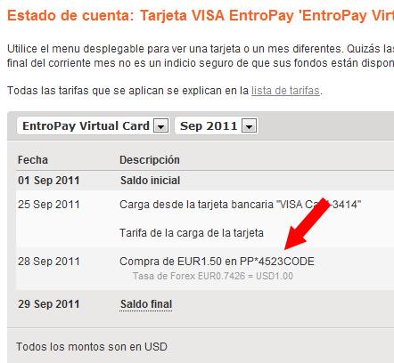 Verificar Paypal con Tarjeta Entropay