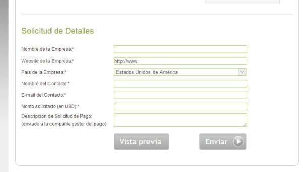 formulario us payment service